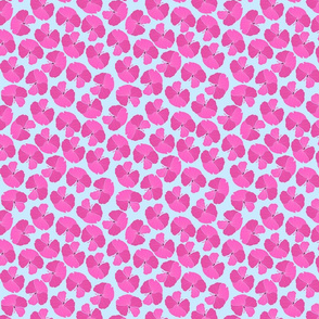Pink Hibiscus Blue Background-01