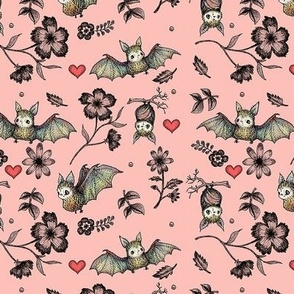 Bat and Hearts (Small print)
