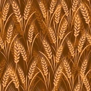 seamless wheat harvest fabric