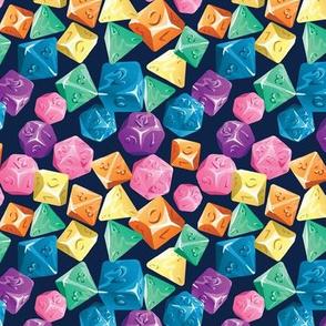 Rainbow Tabletop Dice