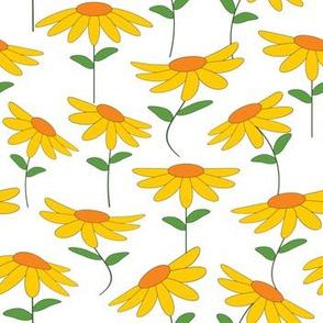 Modern Yellow Flower Print