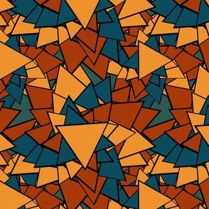 Big Bold Autumn Triangles