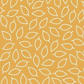 Harvest Gold Leaf Print