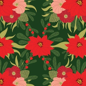 Christmas flowers pattern sp