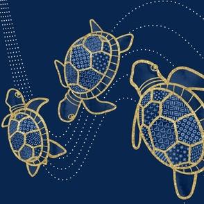 Three Turtles Tea Towel