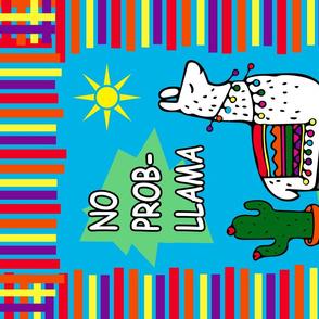 Drama Llama - No Probllama! Tea Towel