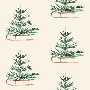 "4"" Christmas Travels // Cream"