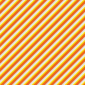 Candy Corn Halloween Stripe // Diagonal Orange, Yellow, and White Lines with Gray Horizontal Texture Background