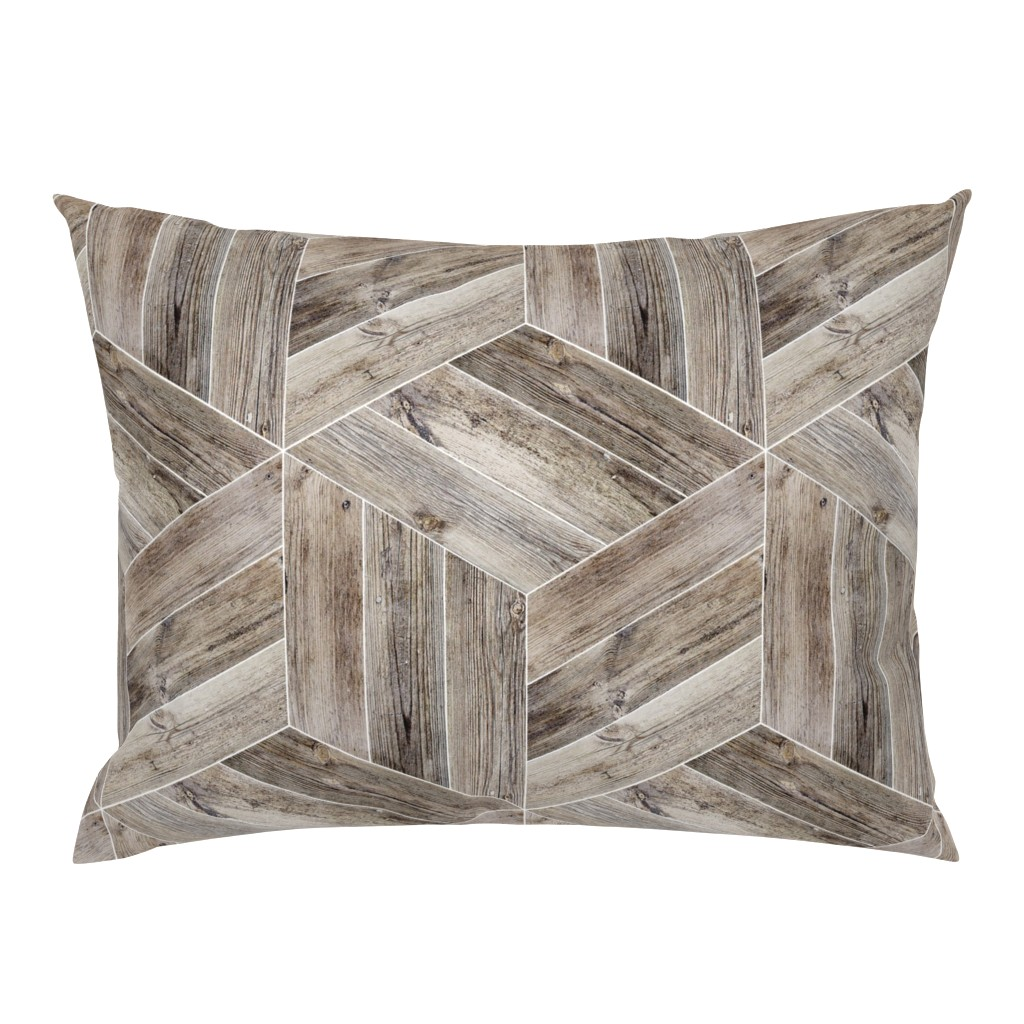 Campine Pillow Sham featuring Weathered Parquet in Brown by gigi&mae