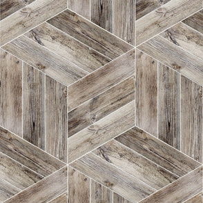 Weathered Parquet in Brown