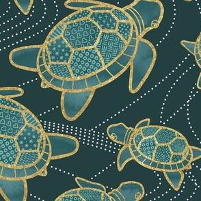 Japanese Pond Turtle / Teal