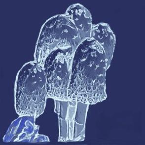 mushroom sketch navy