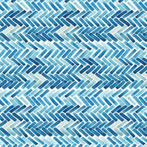 blue herringbone watercolor 90