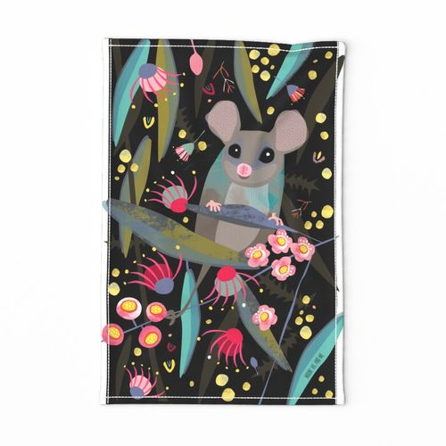 Eastern Pygmy Possum tea towel by Mount Vic and Me