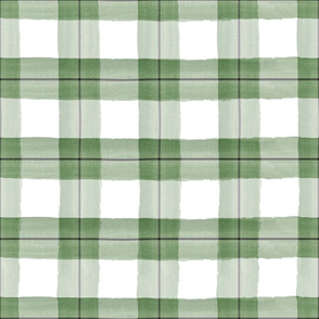 Christmas plaid green and black