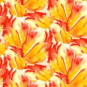 Watercolor Floral Orange Red Yellow Tulip _ Miss Chiff Designs