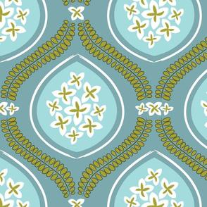 Garden Tile - Aqua Blue