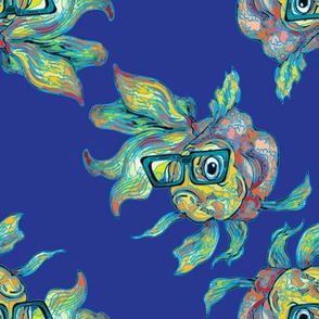 Hipster Fish by ArtfulFreddy