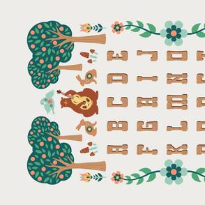 Folk Forest Alphabet