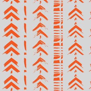 Orange Arrow Brush Strokes