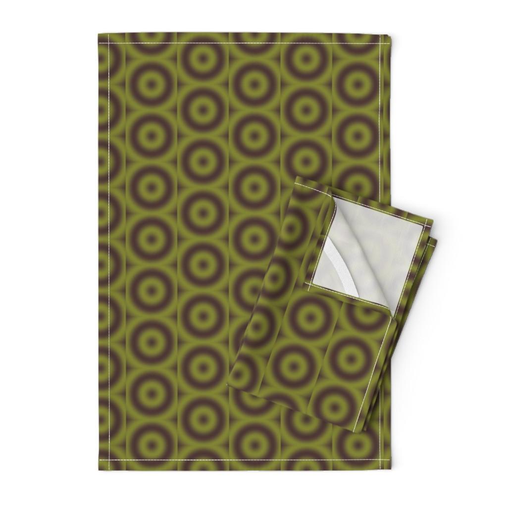 Orpington Tea Towels featuring Ripple eye Brown granite Pepper stem by zandloopster