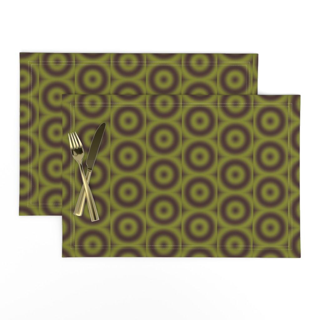 Lamona Cloth Placemats featuring Ripple eye Brown granite Pepper stem by zandloopster