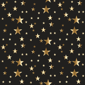 gold stars on charcoal