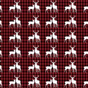 Reindeer on Red Buffalo Check
