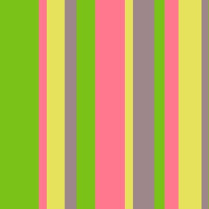 beach color stripes with green pink yellow & purple