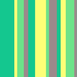colorful stripes in green yellow lime & warm gray