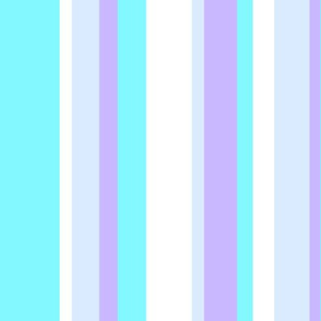 cool tone beach color stripes in shades of blue white & purple