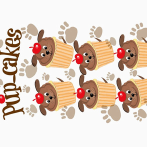 Sweet Little Pup-Cakes / Tea Towel