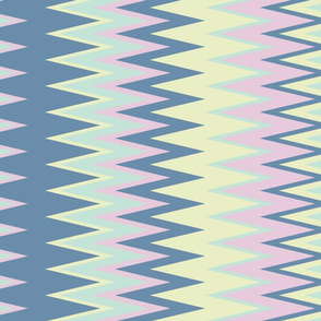 sun bleached beach colors chevron zigzag stripes in blue yellow teal & pink
