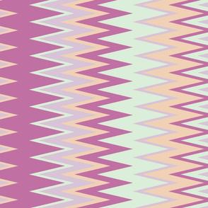 sun bleached beach colors chevron zigzag stripes in purple green lavender and orange
