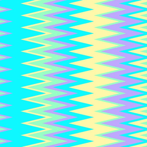 beach colors chevron zigzag stripes in blue yellow green & purple