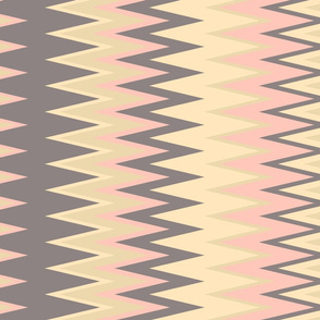 sun bleached beach colors chevron zigzag stripes in beige and pink