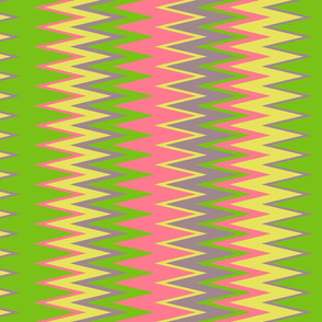 beach color chevron zigzag stripes with green pink yellow & purple