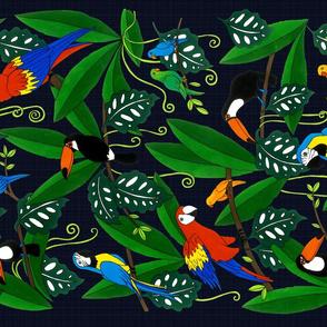 Jungle Birds (teatowel)