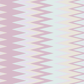 sun bleached beach color chevron zigzag stripes with green pink yellow & purple