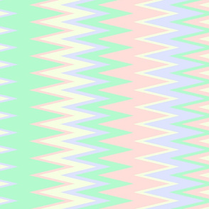sun bleached beach color chevron zigzag stripes with green pink yellow & lavender colors