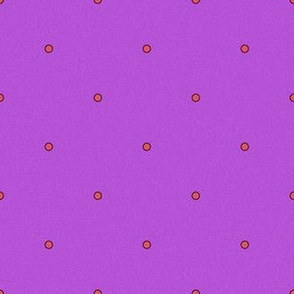 Polka Dots - Pink Dots on Electric Purple