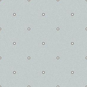 Polka Dot - Cream Dots on Mint