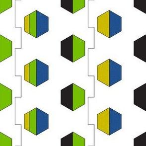 60s Blue Green Geometric Print #6
