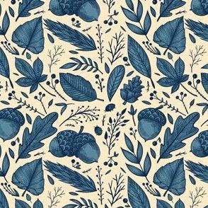Traditional English Woods Acorn Pattern