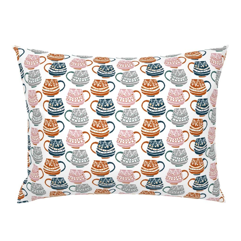 Campine Pillow Sham featuring Scandinavian Mugs by sobonnydesigns