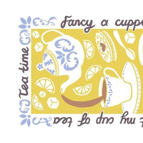 'Tea' Towel - Gold
