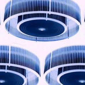 Blue & White Light Fixtures
