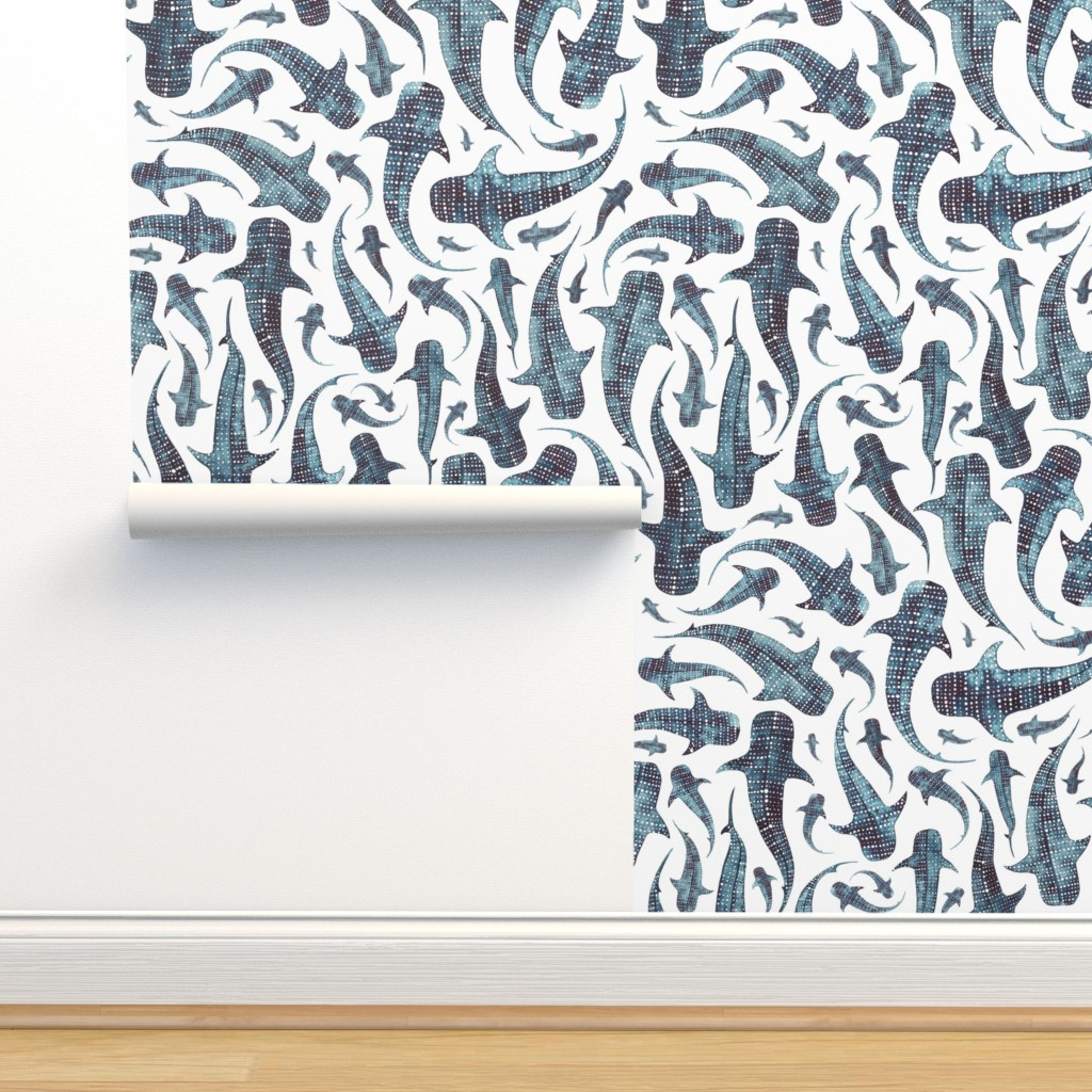 Isobar Durable Wallpaper featuring whale shark by elena_o'neill_illustration_