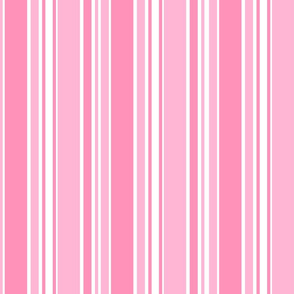 Vertical Bold Pink Stripes