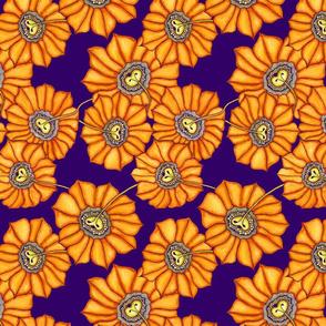 Sunflower on purple